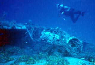 Messerschmitt wreck sea dive kreta